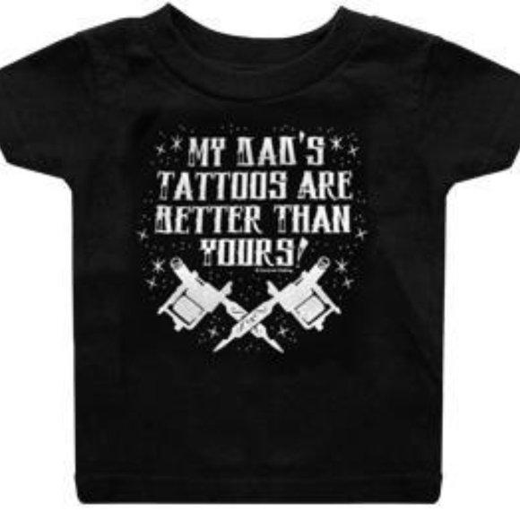 Sourpuss AC//DC Rock N Roll Baby Boys T-Shirt Music Punk Tattoo Kids Clothing
